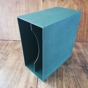 Vinyl Storage - LP-Box, 70er Jahre - in grün, für ca. 40 LPs