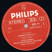 LP - Ludwig van Beethoven - Arthur Grumiaux , Concertgebouworkest , Sir Colin Davis - Violinkonzert