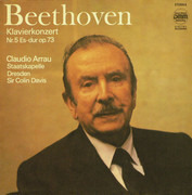 LP - Ludwig van Beethoven - Claudio Arrau , Staatskapelle Dresden , Sir Colin Davis - Klavierkonzert Nr.5 Es-Dur Op.73 - DMM