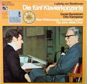 LP-Box - Ludwig van Beethoven - Daniel Barenboim - Otto Klemperer - Die Fünf Klavierkonzerte / Chorfantasie C-moll Op. 80 - Hardcover Box