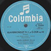 10'' - Ludwig van Beethoven - Walter Gieseking , Philharmonia Orchestra , Herbert von Karajan - 4. Klavierkonzert G-dur
