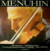LP - Ludwig van Beethoven - Yehudi Menuhin , Gewandhausorchester Leipzig , Kurt Masur - Violinkonzert