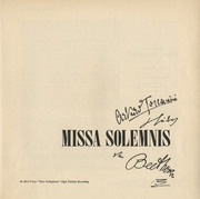 Double LP - Ludwig van Beethoven , NBC Symphony Orchestra , Arturo Toscanini - Missa Solemnis