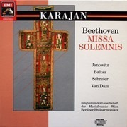 Double LP - Ludwig Van Beethoven  Herbert Von Karajan - Missa Solemnis - Box