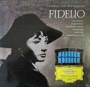LP - Ludwig van Beethoven - Fidelio - tulip rim , red stereo