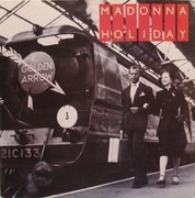 7inch Vinyl Single - Madonna - Holiday - Glossy Cardboard Sleeve, Paper Labels