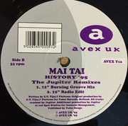 12inch Vinyl Single - Mai Tai - History '95 (The Jupiter Remixes)