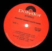 LP - Manfred Mann's Earth Band - Manfred Mann's Earth Band - original US red polydor labels