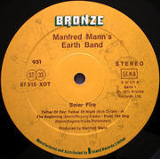 LP - Manfred Mann's Earth Band - Solar Fire