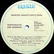 LP - Manfred Mann's Earth Band - Nightingales & Bombers