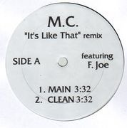 12'' - Mariah Carey - It's Like That (Remix) feat. Fat Joe