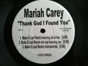 12'' - Mariah Carey - Thank God I Found You - Promo