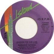 7inch Vinyl Single - Marianne Faithfull - Running For Our Lives / She's Got A Problem