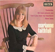 7inch Vinyl Single - Marianne Faithfull - Yesterday - Original French EP
