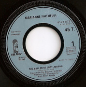 7inch Vinyl Single - Marianne Faithfull - The Ballad Of Lucy Jordan