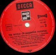 LP - Marianne Faithfull - The World Of Marianne Faithfull
