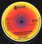 7'' - Marilyn McCoo & Billy Davis Jr. - You Don't Have To Be A Star (To Be In My Show)