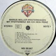 LP - Marius Müller-Westernhagen - Mit Pfefferminz Bin Ich Dein Prinz