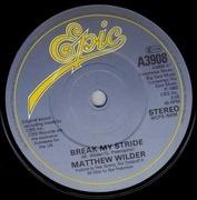 7'' - Matthew Wilder - Break My Stride - Paper Labels