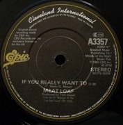 7'' - Meat Loaf - If You Really Want To