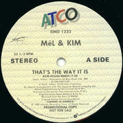 12'' - Mel & Kim - That's The Way It Is - Promo