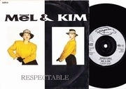 7'' - Mel & Kim - Respectable - Silver Injection Labels