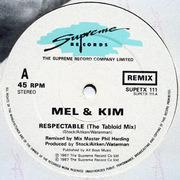 12inch Vinyl Single - Mel & Kim - Respectable (Remix)
