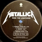 LP - Metallica - Ride The Lightning - 180 Gram