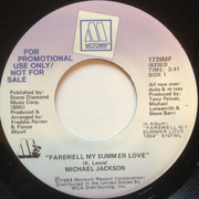 7inch Vinyl Single - Michael Jackson - Farewell My Summer Love