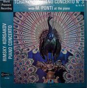 LP - Tchaikovsky / Rimsky-Korsakov - Michael Ponti - Piano Concerto No. 3 Op. 75 & 79 / Piano Concerto op. 30
