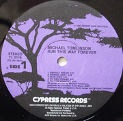 LP - Michael Tomlinson - Run This Way Forever