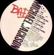 LP - Michael Jackson - Bad - European Tour Sticker