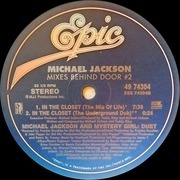 12'' - Michael Jackson - In The Closet (Mixes Behind Door #2)