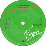 LP - Mike Oldfield - Hergest Ridge - green/red center labels
