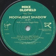 7inch Vinyl Single - Mike Oldfield - Moonlight Shadow - Green Paper Labels