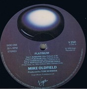 LP - Mike Oldfield - Platinum - B-3 and later pressings