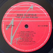 LP - Mike Oldfield - The Killing Fields (Original Film Soundtrack)