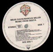 LP - Miles Davis / Marcus Miller - Music From Siesta