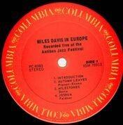 LP - Miles Davis - Miles Davis In Europe