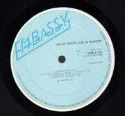 LP - Miles Davis - Live In Europe