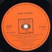 LP - Miles Davis - Miles In Berlin - Original 1st German