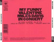 CD - Miles Davis - My Funny Valentine - Miles Davis In Concert