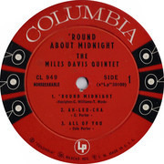 LP - Miles Davis - 'Round About Midnight - Original Mono