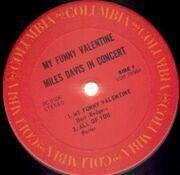 LP - Miles Davis - My Funny Valentine - Miles Davis In Concert