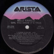12'' - Milli Vanilli - Girl You Know It's True