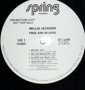 LP - Millie Jackson - Free And In Love - PROMO
