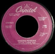 7inch Vinyl Single - Missing Persons - Words