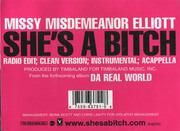 12'' - Missy 'Misdemeanor' Elliott, Missy Elliott - She's A Bitch