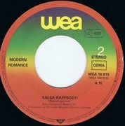 7inch Vinyl Single - Modern Romance - Everybody Salsa