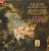 LP - Mozart - 4 Hornkonzerte,, Alan Civil, Philh Orch London, O. Klemperer